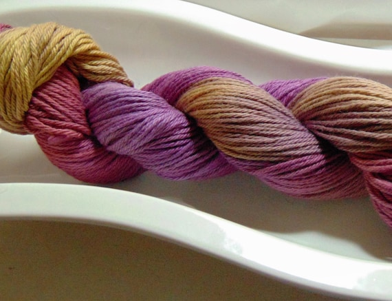 "Lightening Sky- ""Storm Warning Collection"" 100 Organic Cotton Hand Dyed Sport Weight Variegated Yarn"