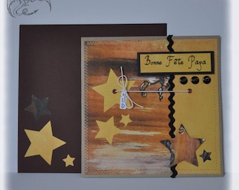 Card, Happy Father's day, scrapbooking