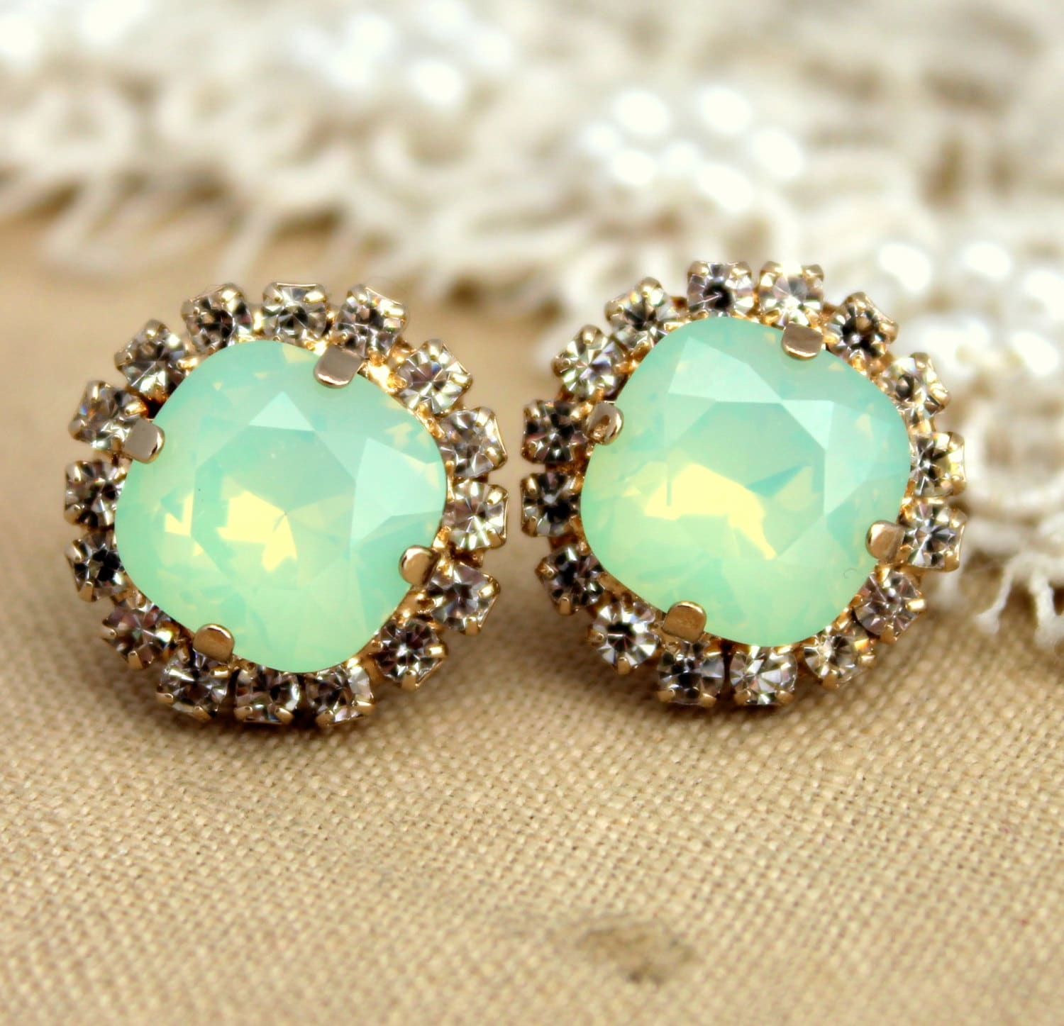 small earrings wwake stud single opalstud studs catbird opal