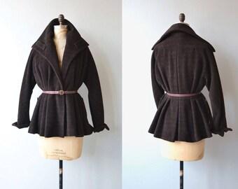 Travella wool jacket | vintage 1950s coat | short wool 50s jacket