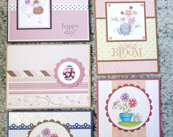 Handmade Easter/Spring Cards - Set of 5 - Variety