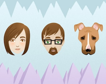 Custom Family Portraits (Faces Only)