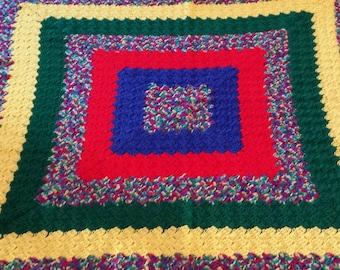 Primary Square blanket