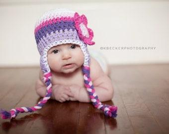 baby hat, girls hat, newborn girl hat, baby hat, baby girl hat, crochet baby hat, Crochet , purple hat, crochet kids hat, baby girl hat