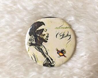 Jimi Hendrix vintage 70s/80s classic rock round finback button