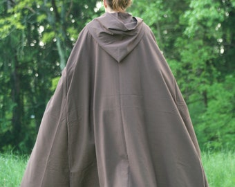 Dark Brown Hooded Cloak, Linen - Limited Edition**