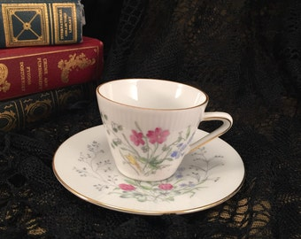 Demitasse Tea Cup and Saucer Seltmann Weiden Bavaria Monika Series//Western Germany//Porcelain China - 1949 to 1954, Item#DTC53581