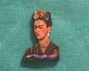 Frida Kahlo Self Portrait II / Frida Wooden Needle Minder