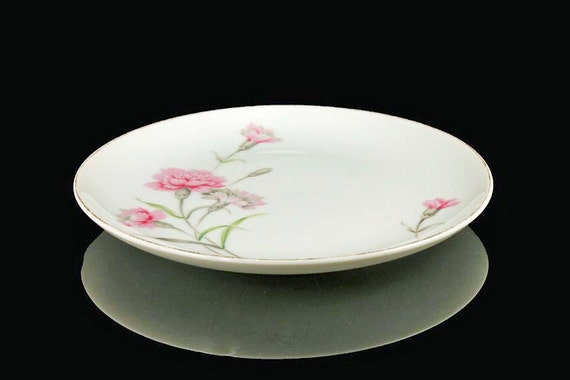Bread and Butter Plate Royal Court China Carnation Pattern Set of 4