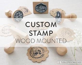 CUSTOM STAMP, CUSTOM Logo Stamp, Business Stamp, Custom Stamps, Branding Stamp, Etsy Shop Stamp, Business Card Stamp, Small Business Stamp