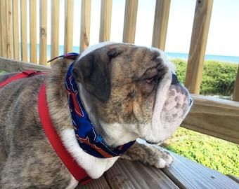 "Cooling Collar, Shark Hibiscus Dog Neck Cooler, Polymer Fabric Bandana w/ Buckle Size Extra Large fits 22-26"" neck, English Bulldog iycbrand"
