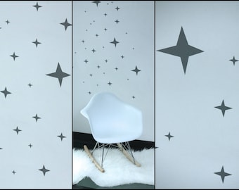 Stickers star vinyl 4 branches to dress up your walls