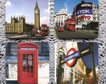 I See London... -- London Sights Mousepad Coaster Set