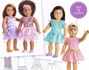 American Girl Doll Clothes Pattern, AG Doll Clothes Pattern, 18 inch Doll Clothes Pattern, Simplicity Sewing Pattern 8360