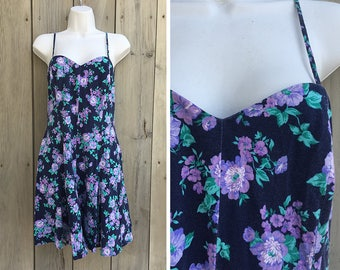 Vintage dress | 90s Fredericks of Hollywood spaghetti strap floral sundress
