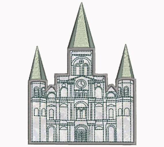 St Louis Cathedral Castle Applique Machine Embroidery