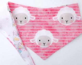 "Tie around (tie on) Pet Bandana - Size SMALL - ""Happy Easter to Ewe"" bandana"