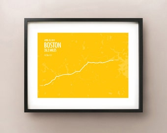 Boston Marathon Print 2015
