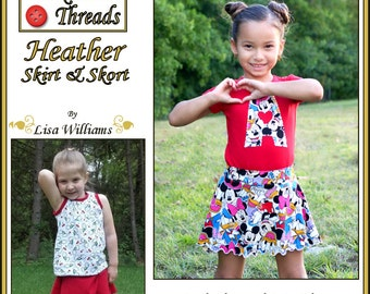 INSTANT DOWNLOAD: Heather Skirt & Skort - diy Tutorial pdf eBook Pattern - Sizes 12M - 12