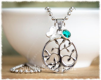Cremation Jewelry • Memorial Urn Necklace • Tree of Life • Ashes Necklace • Remembrance Jewelry • Ashes Necklace