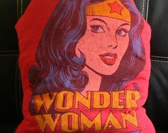 Wonder Woman Recycled Tshirt Pillow DC Comics Superheroes Classic Wonder Woman
