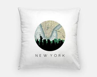 New York City Pillow | New York City Skyline Art Pillow | New York City pillow | New York City home decor | throw pillow | city skyline