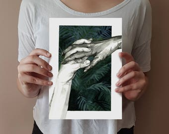 Botanical Painting - Palm. Original Watercolour Painting by Eloise Reeves