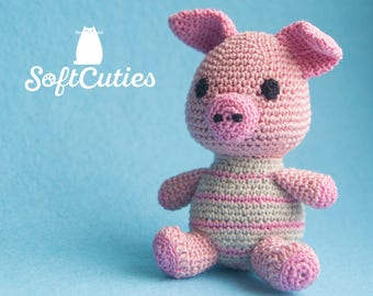 Crochet Toy Pig. Soft Toy Piglet. Amigurumi Pig. Plush Piglet. Toy Piglet.