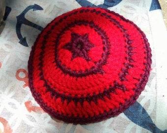 Red yarmulke