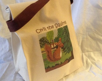 Cyril the Squirrel character lunch bag