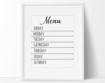 family weekly meal planner