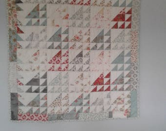 Cotton Triangles Handmade Quilt or Hanging