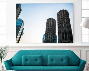 Marina City, Chicago Photo, Downtown Chicago, Adventure Nursery, Travel Photography, Urban Wall Art, Chicago Architecture, Chicago Print
