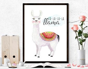 Llama printable, funny printable, animal printable, llama print, nursery printable, nursery print, children printable, children printables