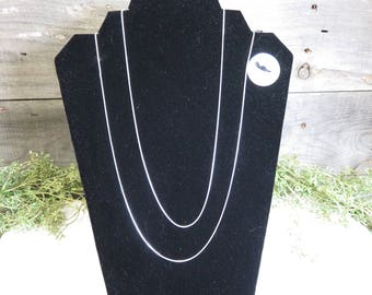 "Silver Plated Snake Chain 24"" 1mm NEW Lot of 12 Chains Jewelry Supply"