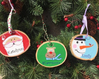 Personalized wooden ornaments