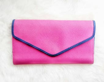Bright Pink and Blue Wallet