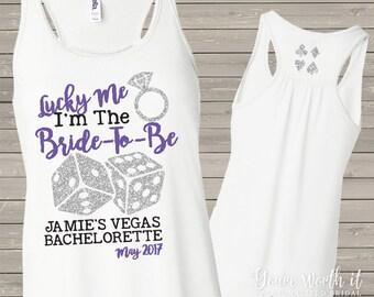 bride bachelorette party shirt -  vegas bachelorette party bride tank -bella flowy tank vegas theme  bachelorette party glitter sparkly
