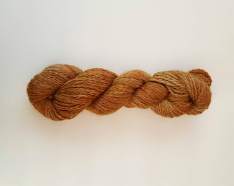Superfine Alpaca Yarn Aran Weight Hand Dyed Tonal Variation TIN ROOF RUSTED