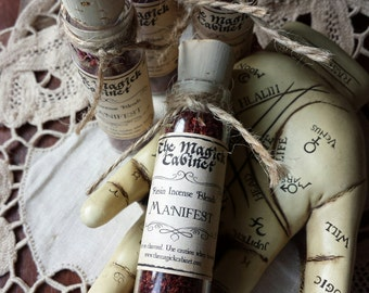 Manifest Incense, Witchcraft Supply, Wicca Supplies, Witchcraft, Handmade Incense,Wicca, Witch, Resin Incense, Aromatherapy, Incense Blend