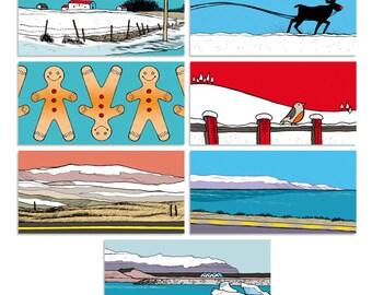 """Imprimable // Lot de 10 étiquettes cadeau """"Snow Mix // Islande"""""""