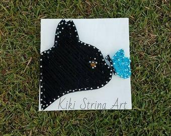 cat with butterfly string art, Cat string art, butterfly string art, kitty string art, wall decor, home decor, christmas gift, nursery room