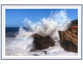 Shore Acres State Park Waves Crashing note card or greeting card