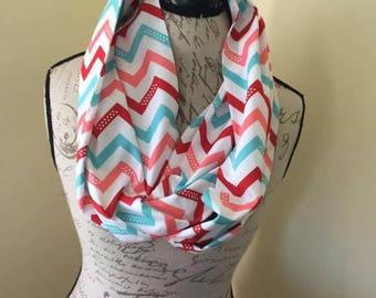 Chevron Print Infinity scarf