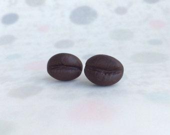Coffee bean earrings