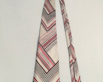 Vintage 1970s Tie, Mens Jack Marvin Necktie