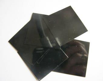 6 LARGE GLITTER RHODOÏD 42 MM SHINY BLACK SEQUINS