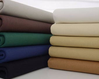 "12oz Heavy weight canvas, Solid cotton canvas fabric, great for bag purse and sofa cover,59"" wide- 1/2 yard"
