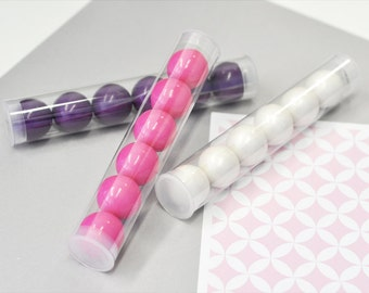 Gumball Tube Clear Gumball Tubes Plastic Gumball Tubes Empty Gumball Tubes Clear Tubes Plastic Clear Tubes Candy Tubes (EB2300NP) set of 24|