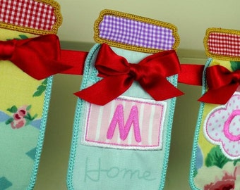 Fabric Wall Banner, Mason Jars - Free Personalization
